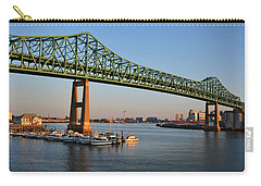 The Tobin Bridge Into The Sunset Chelsea Yacht Club Carry-all Pouch