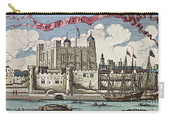 The Tower Of London Seen From The River Thames Carry-all Pouch