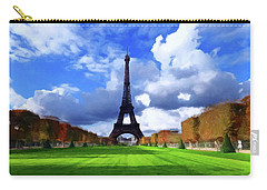 Carry-all Pouch featuring the painting The Tower Paris by David Dehner