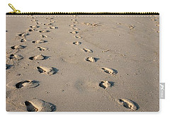 The Trails Of Footprints - Jersey Shore Carry-all Pouch