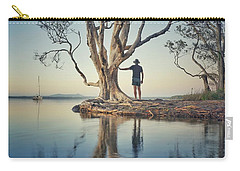 Carry-all Pouch featuring the photograph The Tree And Me by Keiran Lusk