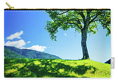 Carry-all Pouch featuring the photograph The Tree On The Hill by Silvia Ganora