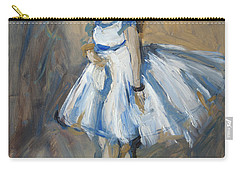 The Truth Lies Between Aguste Renoir And Marlene Dumas Carry-all Pouch by Nop Briex