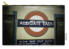 Carry-all Pouch featuring the photograph The Tube Aldgate East by Christin Brodie