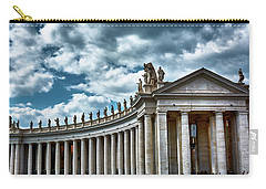 Carry-all Pouch featuring the photograph The Tuscan Colonnades In The City Of Rome by Eduardo Jose Accorinti