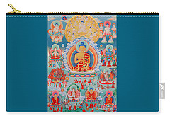 The Twelve Primordial Teachers Of Dzogchen - Tonpa Chu Ni Carry-all Pouch by Sergey Noskov
