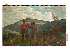 The Two Guides Carry-all Pouch by Winslow Homer