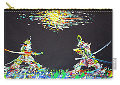 Carry-all Pouch featuring the painting The Two Samurais by Fabrizio Cassetta