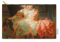 Carry-all Pouch featuring the painting The Two Sisters                                   by Jean Claude Richard