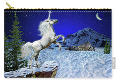 Carry-all Pouch featuring the digital art The Ultimate Return Of Unicorn  by William Lee