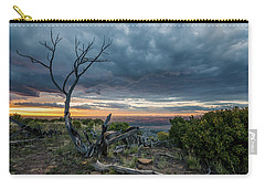 Carry-all Pouch featuring the photograph The Unfolding Drama by Margaret Pitcher