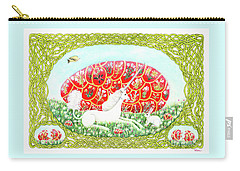 Carry-all Pouch featuring the painting The Unicorn And The Egg by Lise Winne