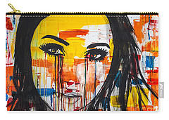 Carry-all Pouch featuring the painting The Unseen Emotions Of Her Innocence by Bruce Stanfield