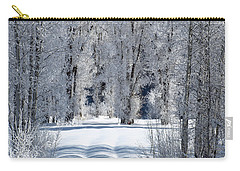 The Untraveled Winter Road Carry-all Pouch