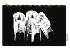 Carry-all Pouch featuring the digital art The Unused Chairs by Steve Taylor
