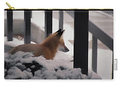 Carry-all Pouch featuring the digital art The Urban Fox by Ernie Echols