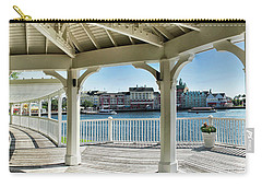 The View From The Boardwalk Gazebo At Disney World Mp Carry-all Pouch