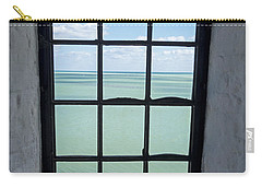 The View From The Lighthouse Window Bill Baggs Lighthouse Key Biscayne Florida Carry-all Pouch