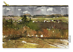 The View On Burlingame Road Carry-all Pouch by Judith Levins