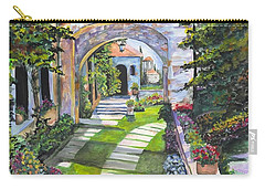 Carry-all Pouch featuring the digital art The Villa by Darren Cannell