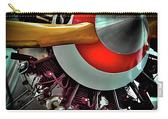 Carry-all Pouch featuring the photograph The Vintage Stearman C-3b Biplane by David Patterson