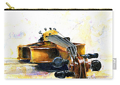 The Violin Carry-all Pouch by John D Benson