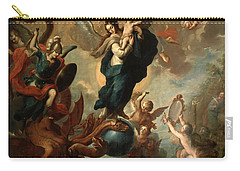 The Virgin Of The Apocalypse Carry-all Pouch by Miguel Cabrera