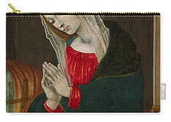 Carry-all Pouch featuring the painting The Virgin Of The Nativity , Workshop Of Filippino Lippi by Artistic Panda