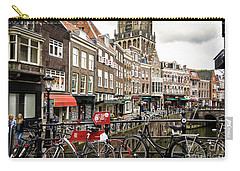 Carry-all Pouch featuring the photograph The Vismarkt In Utrecht by RicardMN Photography