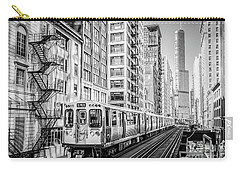 The Wabash L Train In Black And White Carry-all Pouch