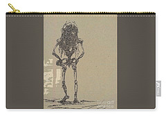 Carry-all Pouch featuring the drawing The Walking Dead by Reed Novotny