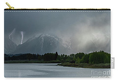 Carry-all Pouch featuring the photograph The Warning by Sandra Bronstein