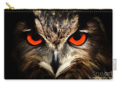 The Watcher - Owl Digital Painting Carry-all Pouch