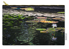 Carry-all Pouch featuring the photograph The Water Lily by Cendrine Marrouat