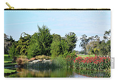 Carry-all Pouch featuring the photograph The Water On Number One Santa Maria Country Club by Barbara Snyder