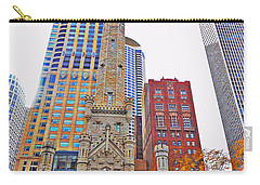 The Water Tower In Autumn Carry-all Pouch by Mary Machare