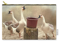 Carry-all Pouch featuring the photograph The Watering Hole by Robin-Lee Vieira