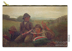 The Watermelon Boys Carry-all Pouch by Winslow Homer