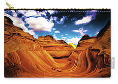 Carry-all Pouch featuring the photograph The Wave Arizona Light by Norman Hall