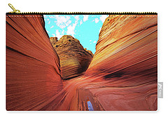 Carry-all Pouch featuring the photograph The Wave Arizona by Norman Hall