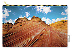 Carry-all Pouch featuring the photograph The Wave Arizona Rocks by Norman Hall