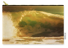 Carry-all Pouch featuring the painting The Wave by Gabriella Weninger - David