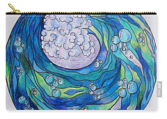 Carry-all Pouch featuring the drawing The Wave by Megan Walsh