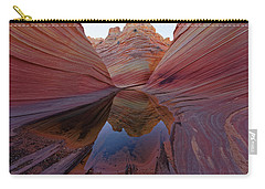 The Wave Reflection Carry-all Pouch by Jonathan Davison