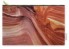 Carry-all Pouch featuring the photograph The Wave Trail by Norman Hall