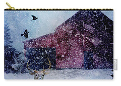 The Way Of Winter Rustic Barn Deer Carry-all Pouch