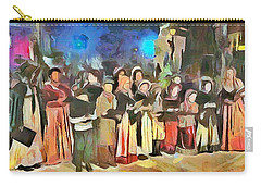 Carry-all Pouch featuring the painting The Way We Were - Christmas Caroling by Wayne Pascall