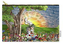 The Weary Warrior  Carry-all Pouch by Dolores Develde