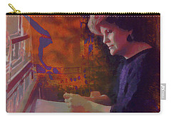 Carry-all Pouch featuring the photograph The Weaver by Kate Word