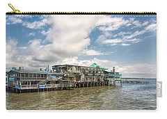 Carry-all Pouch featuring the photograph The Wharf At Cedar Key by John M Bailey
